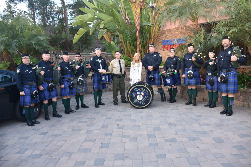 The SDLEES Pipe Band performing on KUSI Morning News